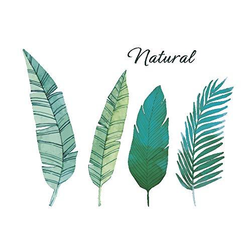 aloiness Grüne Tropische Pflanze Verlässt Wand Aufkleber Abnehmbarer Blätter Wand Decal für Wohnzimmer und Schrank, Wandtattoo Serie -