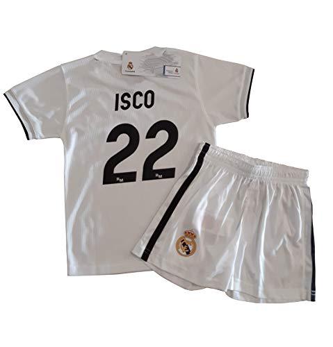 989583bdc4 Conjunto Camiseta y Pantalon 1ª Equipación 2018-2019 Real Madrid - Réplica  Oficial Licenciado -