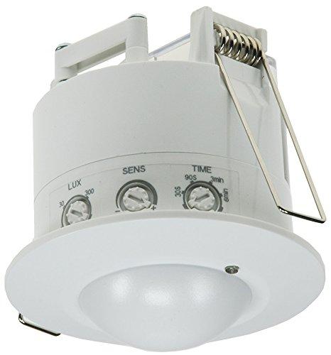 Decken Einbau HF Bewegungsmelder 230V 360° Radar LED Geeignet Parallelschaltung Einstellbar Weiß