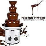 2000W 4 Tiers Electric Chocolate Melting Machine Fondue Maker Fountain Fondue Electric Pot