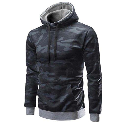 Hoodie Sweatshirt Herren, DoraMe Männer Herbst Winter Lange ärmel Kapuzenpulli Camouflage Tops Bluse Lässiges Hemd(Bitte wählen Sie eine...