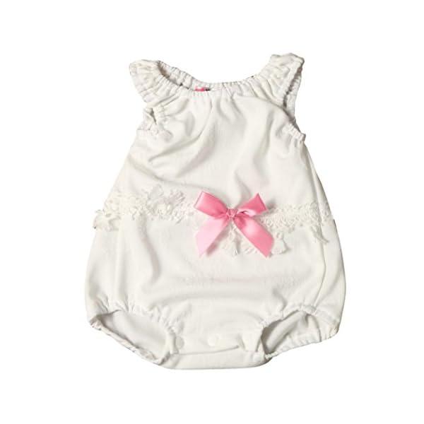 FAMILIZO Monos, Bebé ReciéN Nacido Bebé NiñAs Floral Mono Traje De Mono Conjunto Pijama 1