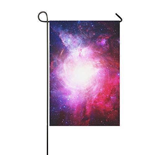 JOCHUAN Wohnkultur Schöne Nebel Sterne Galaxien Elemente Dieser Garten Flaghouse Yard Flaggarden Yard Decorationsseasonal Willkommen Outdoor Flagge 12X18 Zoll