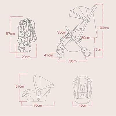 Doble Twin Cochecito for niños, plegable, puede convertirse en una cesta de albergue, separableBaby del cochecito de niño de la manija respaldo ajustable Push & reposapiés, 5 puntos cinturones de segu