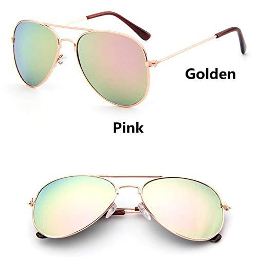 GAOHAITAO Fashion Kids Aviator Sunglasses Kids Boys Girls Design Silver Frame Blue Lens Pilot Sun Glasses for Children,Style 3