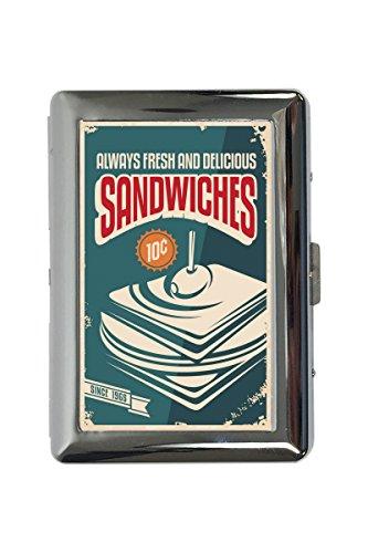 LEotiE SINCE 2004 Zigarettenetui Box Retro Sandwiches Bedruckt