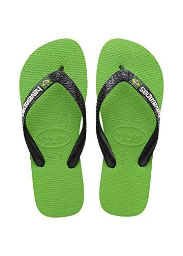 Havaianas Tongs Homme/Femme Brasil Logo Multicolore (Green Neon/Noir)