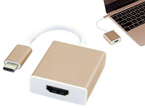 usb-c USB 3.1Typ C zu HDMI 1080P HDTV Adapter Kabel mit Gold Aluminium Fall werden die erste zu schreiben ein Review Portable Audio Review