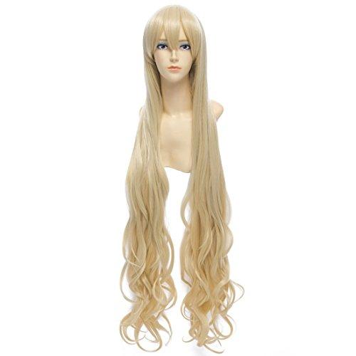 100Cm Womens Longues Bouclés Ondulés Perruques De Cheveux Pleins Cospaly Fashion Perruques Anime Party