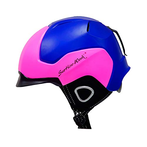 Ski- & Snowboardhelm für Erwachsene für Herren & Damen Winter Schneesport Schützen, warm halten, Sicherheit, mehrere Farben zur Auswahl,bluepowder,L