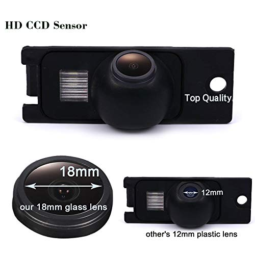 HDMEU HD Color CCD Wasserdichte Rückfahrkamera, 170° Betrachtungswinkel Rückfahrkamera für Volvo S60/S80/V70/S40/S40L/V40/V50/S60L/XC60/C70/XC70/S80L/XC90 Color Ccd Wasserdichte Kamera