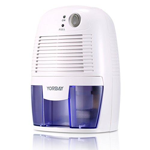 Yorbay Luftentfeuchter(500ml Wassertank,250 Pro Tag,Raumgröße ca.10-15 m²) Elektrisch Raumentfeuchter Gegen Feuchtigkeit, für Schlafzimmer, Wohnzimmer, Keller, Garage usw