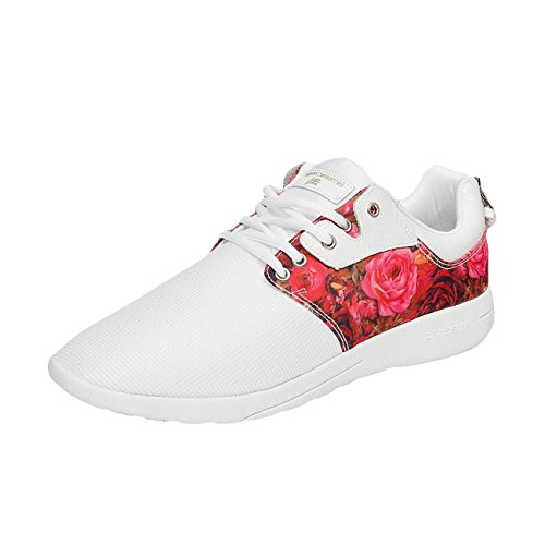 - Basket Sixth June Sneakers DNR Flower Blanc Rose 78500-A30 Multicolore
