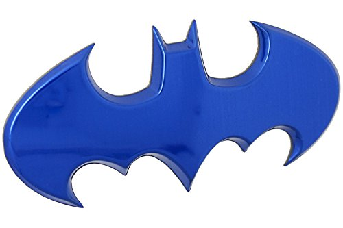 Fan Emblems Batman Batwing Logo 3D Auto Emblem Blau Chrom, DC Comics Automotive Aufkleber Abzeichen Biegt vollständig auf Autos, Lastwagen, Motorräder, Laptops, Windows, fast alles (Stick Mann Kostüm Kind)