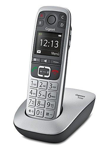 Gigaset E550 Dect-Großtasten-Schnurlostelefon, schwarz/platin