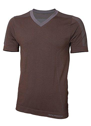 BRUBECK® SS11800 Herren (Kurzarm T-Shirt) | Schlafanzug | MicroModal Air | Klimaregulierender Komfort | Einzigartige Weichheit Brown