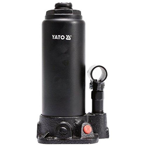Este gato de botella YATO es un gato hidráulico profesional con un sistema de válvulas que dispensa con precisión el flujo de aceite. Con una capacidad de elevación de 5 toneladas, este gato de botella tiene un rango de levantamiento de 216 mm a 413 ...