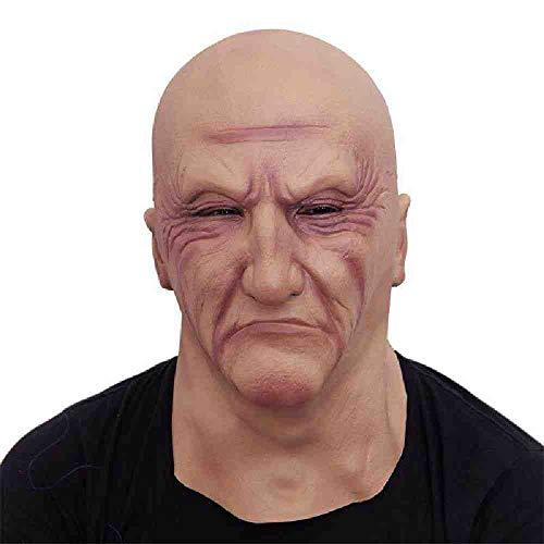 Kostüm Das Gesellschaft Der - DSWIME Halloween Latex Kopf Maske Gruseliges Kostüm Cosplay Requisiten schreckliche Gangster Gesellschaft Party Maske Halloween Latex Maske Maskerade