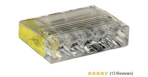 100 St/ück Dose ViD 2073-205 Verbindungsklemme//Steckklemme gelb 5 x 0,5-2,5 mm/²