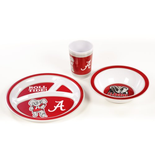 BSI NCAA Alabama Crimson Tide Kid 's Schüssel-Set (3-teilig) -
