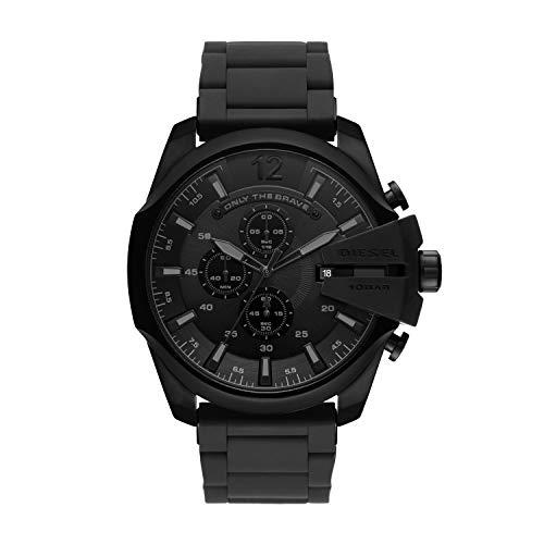 Diesel Herren Chronograph Quarz Uhr mit Edelstahl Armband DZ4486
