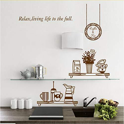 Hlonl Home Dekorative Restaurant Küche Hintergrundbild Kreative Kühlschrank Aufkleber Geschirr Aufkleber