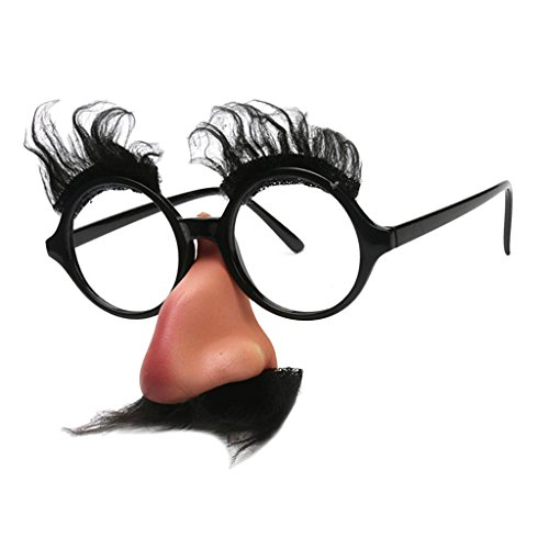 Sharplace Foto Requisiten Verkleidung Accessoires Partybrille Spaßbrille Brille Nase Bart Maske Nasenbrille für Karneval Halloween Fasching Party