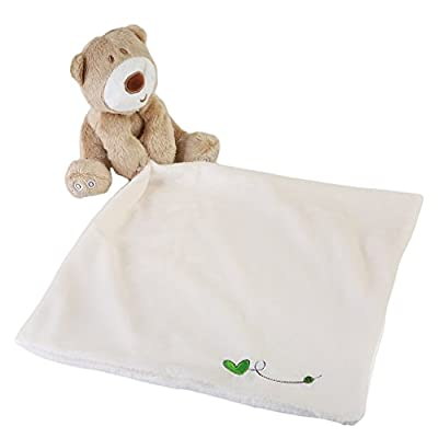 Lalang Baby Comforter Toys Cotton Towel Soft Hand Towel Natural Bear and Towelling