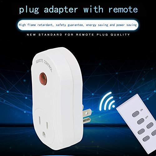 Earthily Smart-Fernbedienung-Buchse Kabelloser Schalter-Stecker Kabellose Fernbedienung-Buchse EIN für einen Stecker-Schalter-Adapter mit 120-V-Fernbedienung nach US-Standard Attractive -