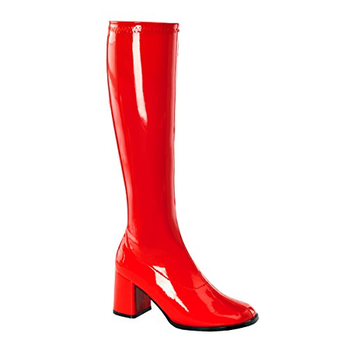 Womens GoGo Boots Red Shoe Size 3 Fancy Dress ()