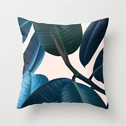 Sofakissen Polyester Kissenbezug Sofa Home Office Pflanze Kissenbezug Ohne Kissenkern (4er-Set, 45x45cm) Velvet Soft für Zuhause (Color : Black) -