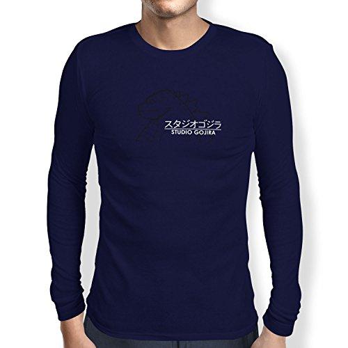 TEXLAB - Studio Gojira - Herren Langarm T-Shirt, Größe XL, navy