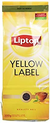 Lipton Thé Noir en Vrac Yellow Label (Lot de 2x200g)