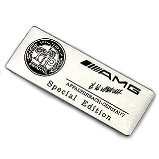 Car Auto Alu Alloy AMG Aufkleber Sticker Emblem Abzeichen Badge für A B C E S R SL CL CLK GLA GLS