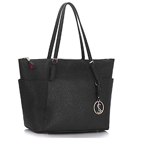 31c599a1d9 LeahWard® Oversize Women s Shopper Bags Quality Faux Leather Shoulder Bag  Handbags For Women School Holiday CW30