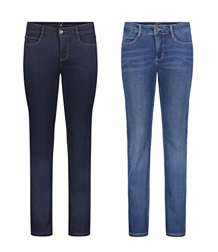 MAC Dream - 2er Pack Damen Jeans Hose Verschiedene Farbvarianten, Größe18:W38/L32, Farbe:D801+D569 Fw-hose