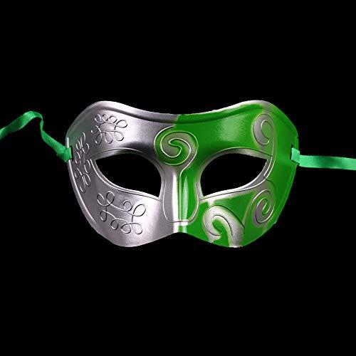 UyeFS-Masquerade Mask Männliche und weibliche Abschlussballmaske Jazz Mask Nightclub Party Mask (Size : Green) (Green Mann Kostüm Für Verkauf)