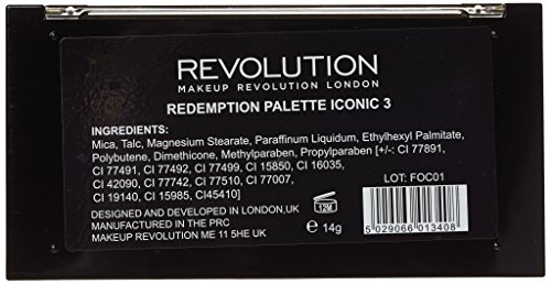 Makeup Revolution Natural Nudes Eyeshadow Redemption Palette Iconic 3