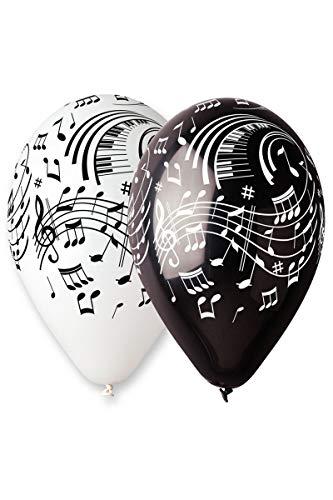 Aptafêtes-ba19921-Sachet de 100Luftballons Musik Noten-Durchmesser 30cm/cirérence 105cm