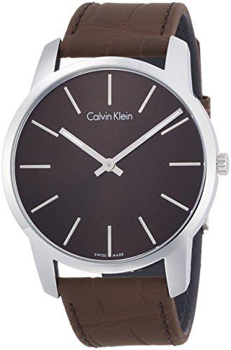 Calvin Klein Reloj Analogico para Hombre de Cuarzo con Correa en Cuero K2G211GK