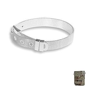 Original Enez Edelstahl Armband Armreifen Länge:14,5 – 19,5cm Breite 10mm T414