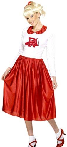 Karnevalsbud - Damen Fantasy Kostüm Rotweiss, M, (Kostüme Fantasy Girl School)