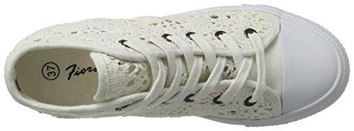 Fiorucci Fepe024, Sneaker Alte Donna Bianco (Bianco)