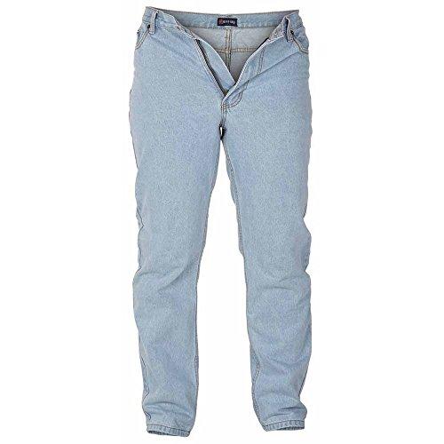 Duke Herren Rockford Komfort Fit Jeans Steinfarben