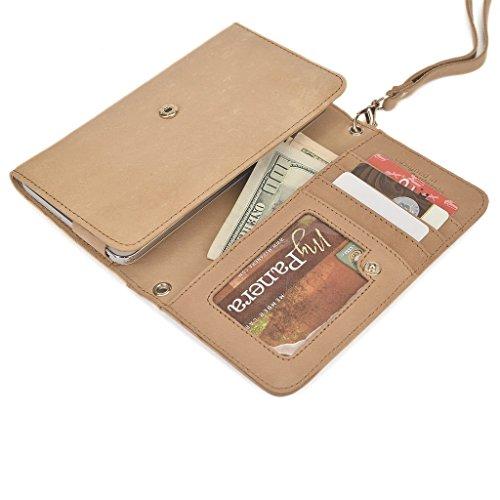 Kroo Pochette en cuir véritable pour téléphone portable pour Vivo xplay3s, ZTE Nubia Z7 Gris - gris Marron - marron