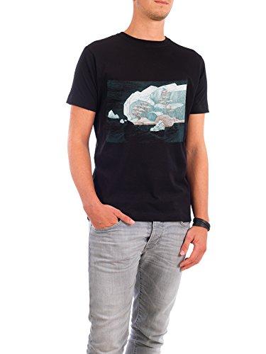 """Design T-Shirt Männer Continental Cotton """"Arctic Mirage"""" - stylisches Shirt Natur Reise Reise / Strand und Meer Weihnachten von Liis Roden Schwarz"""