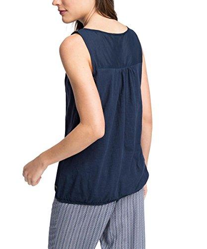 edc by Esprit 056cc1k032-Sleeveless, Débardeur Femme Bleu (NAVY 400)