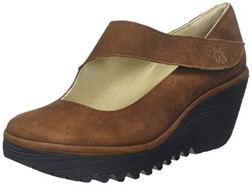 Fly London Yasi682fly, Zapatos de tacón para Mujer, Marrón Cognac 044, 38 EU