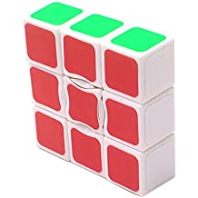 MZStech suave y velocidad 1x3x3 pegatina cubo mágico (2,24 x 2,24 x 0,75 pulgadas - blanco)