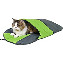 Ohana - Saco de Dormir para Gatos (Forro Polar, Suave, cálido, Lavable